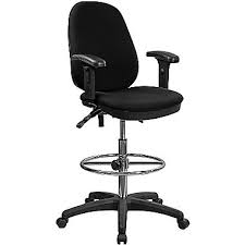 tall drafting chair. flash furniture ergonomic multi-functional triple paddle drafting stool with adjustable foot ring and arms tall chair