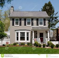Awesome Painted Brick Houses For Modern Home Design: Front Porch And Bay  Window With Lawn