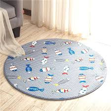 bathroom circle rugs ocean fish printed round bath mat bathroom rugs doormat anti half circle bath