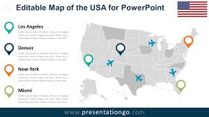 Us Map Editable In Powerpoint Usa Editable Powerpoint Map Presentationgo Com