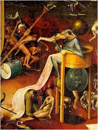 this is but a detailed view of just one part of bosch s famous garden of earthly delights the original is a triptych a single work split among three