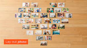 how to make a heart photo wall in 3