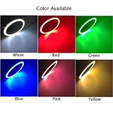 Đèn LED phá sương mù 12V 70mm-120mm hình vòng tròn nhiều màu lựa chọn dành  cho ô tô - Bóng đèn