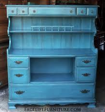 peacock blue furniture. Maple Hutch In Distressed Peacock Blue With Black Glaze. Original Pulls. From Facelift Furniture\u0027s Furniture R