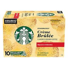 Coffee should be ground fresh each time it is made. Starbucks Coffee K Cup Pods Flavored Creme Brulee Box 10 0 34 Oz Albertsons