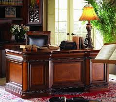 great brown wooden executive desk table for vintage home office vintage home office g11 vintage