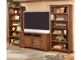 tv stand and bookcase. Plain Bookcase Ashley Furniture Cross Island60 Inch TV Stand U0026 2 Large Bookcases Throughout Tv And Bookcase U