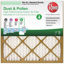 Rheem 15 In. X 20 1 Standard Pleated FPR 4 Air Filter (Case Of  12)-64100I011520 - The Home Depot