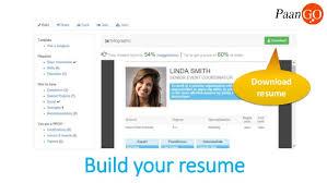 features of paango online resume builder    features     build your