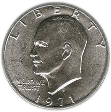 1972 Eisenhower Dollar Value Chart