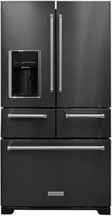the kitchenaid krmf706ebs a five door black stainless steel fridge sounds crazy