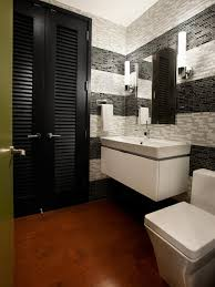 modern half bathroom. minimum color palette modern half bathroom
