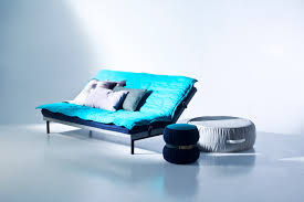 Elegant Turquoise Sleeper Cool Couches With Charming Cushions As