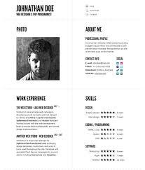 great html cv resume templates   template   idesignowtypographic cv