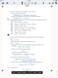 answer key for the balance chemical equations worksheet eigram types of chemical reactions