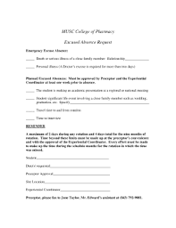 Musc Doctors Note Fillable Online People Musc Excused Absence Form Doc