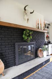 black painted fireplace 13