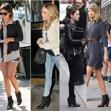 Rag And Bone Boot Size Chart Details About Rag Bone Newbury Boots 39 9 Black Nubuck Leather Ankle Booties Celebrity Shoes