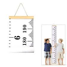 Kids Growth Chart Durable Removable Children Height Children Height Chart Thicker Canvas Material