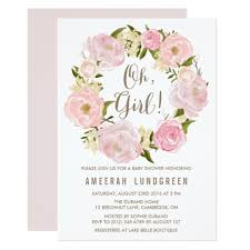 flower baby shower invitations romantic peonies wreath baby shower invitatio and fl bridal shower invitation flower