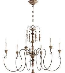 6 light chandelier quorum 6 6 light inch vintage copper chandelier ceiling light 6 light chandelier