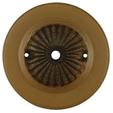 portfolio aged brass metal ceiling fan yoke cover