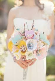 Paper Flower Bouquet For Wedding Paper Wedding Bouquets