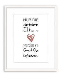 Poster Kunstdruck Plakat Spruch Zitat Oma Und Opa