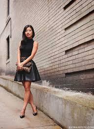 black on black turtleneck tank faux leather skirt reviews extra petite