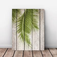 art print oil painting palm tree leaf framed wood pattern home store room decor on wood palm tree wall art with art print oil painting palm tree leaf framed wood pattern home store