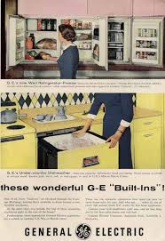 after i found the 1955 ad i then went into my stash of vintage marketing materials and super quick located several ads for ge s kitchen appliances