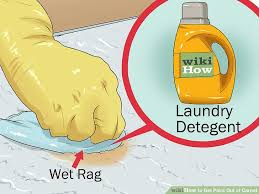 image titled get paint out of carpet step 1