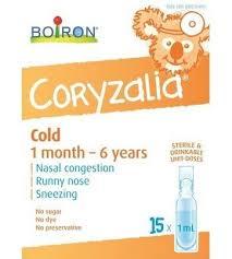 Boiron Coryzalia Childrens Cold Remedy Baby Cold Remedies