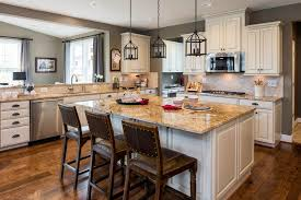 Dc Metro Light Colored Granite With Glass Shade Kitchen Rustic And Cottage  Charm Beige Countertops