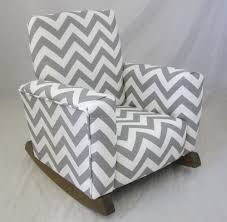 architecture fun childrens upholstered rocking chair new zig zag chevron gray chairs children s age 5