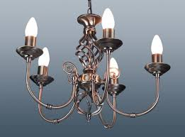 7 arm candle cups barley twist antique brass traditional ceiling light pendant