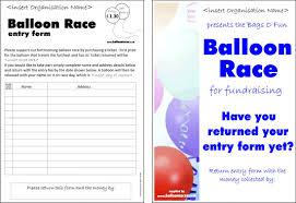 Fundraiser Poster Ideas Balloon Races Fundraising Idea Balloon Race Raise Money Sample