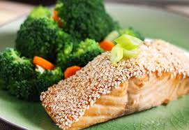 easy home cooked dinner ideas. healthy dinner recipe: easy sesame salmon home cooked ideas p