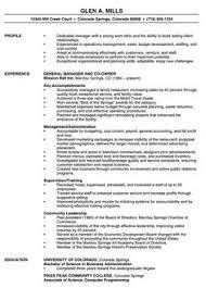 restaurant manager resume example restaurant manager resume template