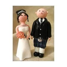 Scottish Kilt Claydough Wedding Cake Topper Figurine Equipment