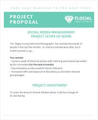 Social Media Proposal Template 10 Social Media Proposal Examples Samples In Pdf Word