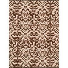 metropolis cream brown 5 ft x 7 ft area rug