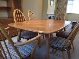 vintage ercol dining table and 6 chairs original 510 365 and 365a