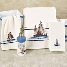 Nautical Bathroom Set Gray Nautical Anchor Bathroom Accessory Set Soap Dispenser Zazzle
