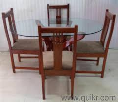 used teak furniture. Excellent Condition Gently Used Teak Wood Glass Top 4 Seater Dining Table For Sale** - Home Office Furniture Mumbai | QuikrGoods