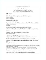 Babysitting Resume Samples Best Of Babysitter Resume Objective Babysitter Resume Sample Elegant Nanny