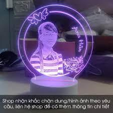Đèn Ngủ 3D - Đèn Led 3D Phòng Ngủ 16 Màu Kèm Điều Khiển - Quà Tặng Độc Đáo  - Làm Mẫu Theo Yêu Cầu - DLMSHOP - Sàn Thương Mại Điện