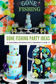 Take a look at the coolest homemade fish birthday cakes. Gone Fishing Birthday Party Pretty My Party Party Ideas