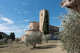 gifts delight laminated 36x24 inches poster abbey monastery church romanesque tuscany italy san antimo