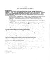 Best Solutions Of Resume System Support System Support Specialist